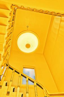 Free Stock Photo of Yellow Cyclops Staircase