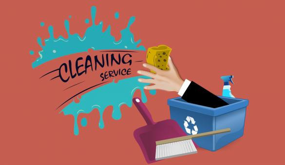 Free Stock Photo of Cleaning Service Illustration