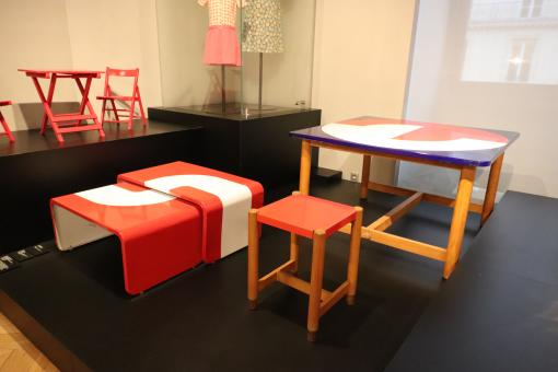 Free Stock Photo of Colorful trendy furniture in a museum