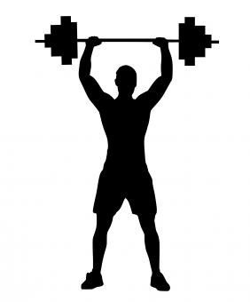 Free Stock Photo of Weight Lifting Silhouette