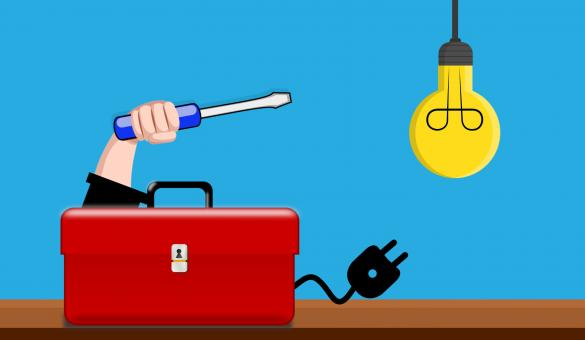 Free Stock Photo of Electrician Toolbox Illustration