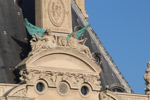 Free Stock Photo of Detail of the Louvre museum building