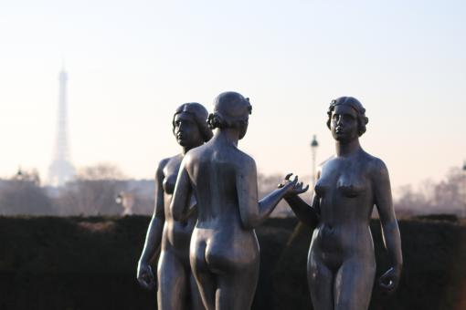 Free Stock Photo of The three beauties: Maillol's famous sculpture