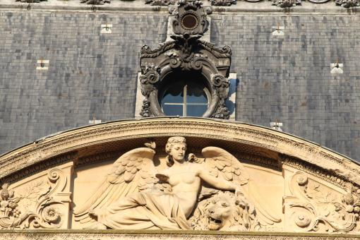 Free Stock Photo of Detail of Louvre's building