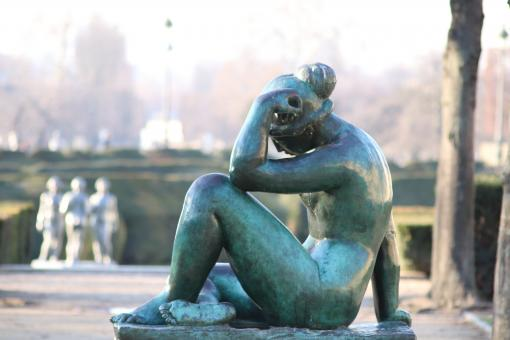 Free Stock Photo of Maillol sculpture of woman