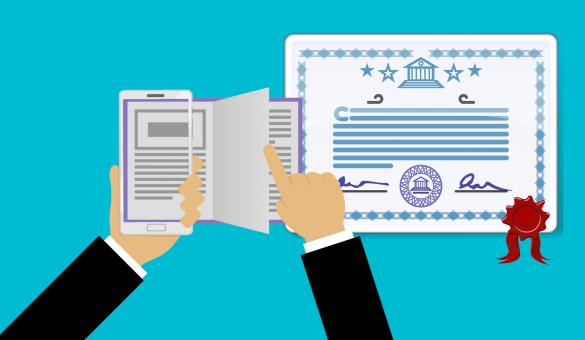 Free Stock Photo of Online Certificate Illustration