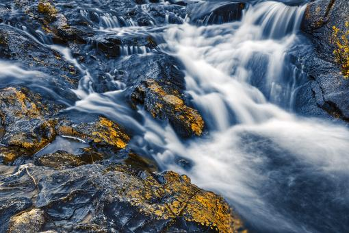 Free Stock Photo of Gold Cobalt Cascades