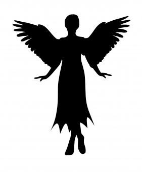 Free Stock Photo of Angel Silhouette