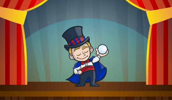 Free Stock Photo of Magic Show Cartoon