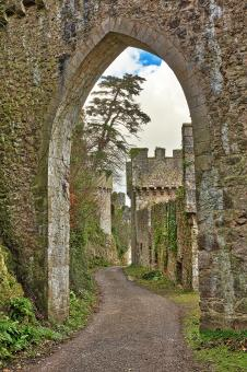 Free Stock Photo of Gwrych Castle Arch Road