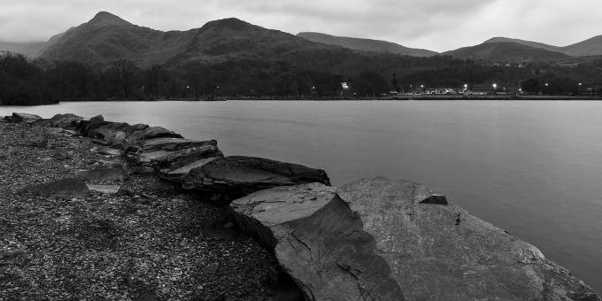 Free Stock Photo of Padarn Panorama Lake