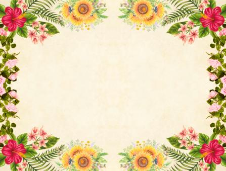 Free Stock Photo of Floral Vintage Frame Background