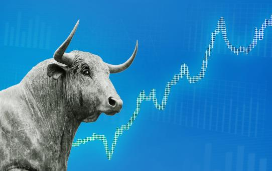 Free Stock Photo of Finance Background - Bull Market - Stock Market - Money