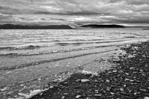 Free Stock Photo of Cape Breton Shores - Black & White