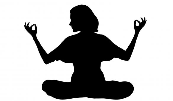 Free Stock Photo of Meditation Silhouette