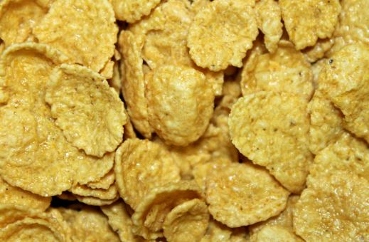 Free Stock Photo of Cornflakes Closeup