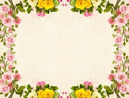 Free Stock Photo of Yellow Flower Frame Vintage Background