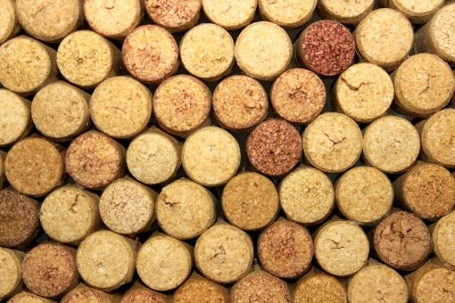 Free Stock Photo of Cork Stoppers - Top View