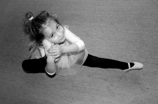 Free Stock Photo of Little Cute Ballerina Practicing