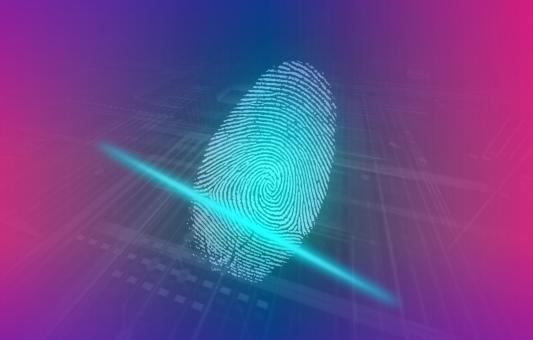Free Stock Photo of Digital Fingerprint - Human Biometrics
