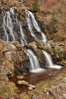 Free Stock Photo of Rhiwargor Waterfall