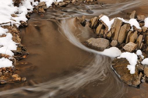 Free Stock Photo of Winter Rock Stream