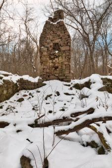 Free Stock Photo of Winter Monocacy Ruins