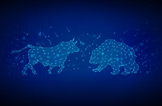 Free Stock Photo of Bull versus Bear - Finance