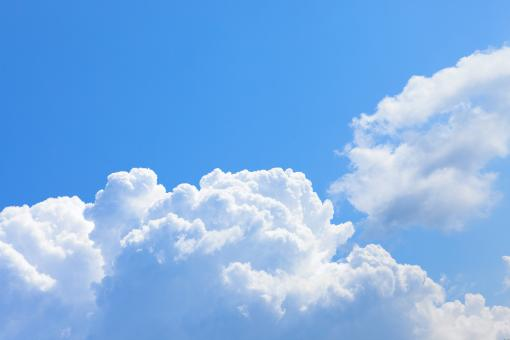 Free Stock Photo of Blue Cloudy Sky Background