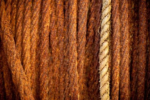 Free Stock Photo of Rusted Steel Cables