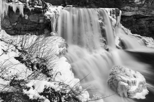 Free Stock Photo of Winter White Blackwater Falls