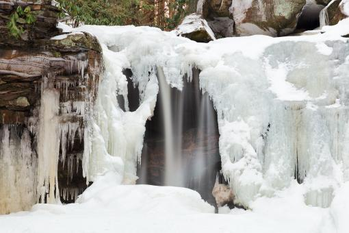 Free Stock Photo of Elakala Freeze Falls