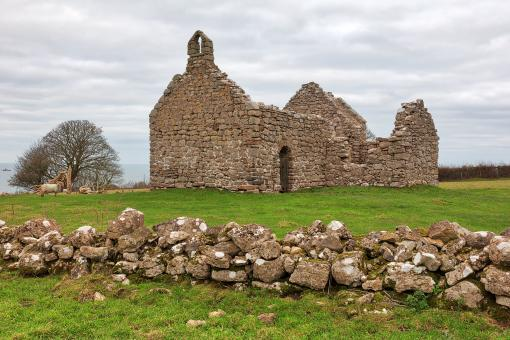 Free Stock Photo of Lligwy Chapel Ruins