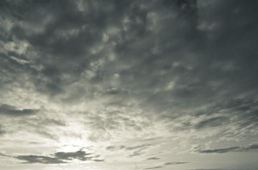 Free Stock Photo of Clouded Sky