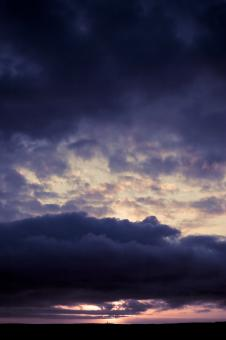 Free Stock Photo of Purple Cloudy Sky