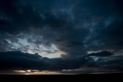 Free Stock Photo of Dark Cloudy Sky