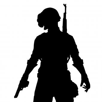 Free Stock Photo of Pubg Soldier Silhouette