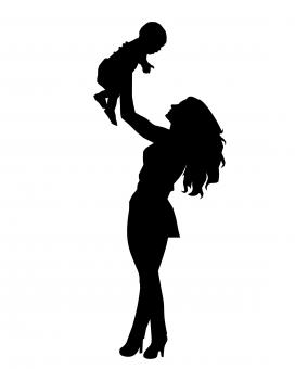 Free Stock Photo of Mother Silhouette