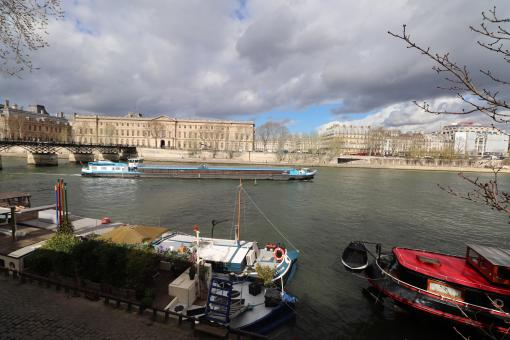 Free Stock Photo of Wide view over the Seine river in Paris