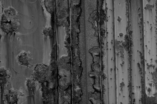 Free Stock Photo of B&W Rust Texture