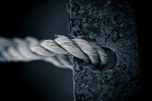 Free Stock Photo of Rope Tied to Metal