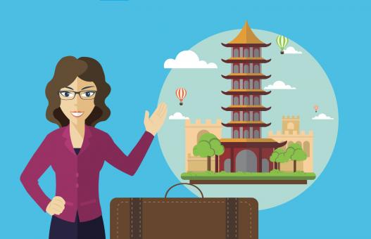 Free Stock Photo of Traveling to China - Illustration