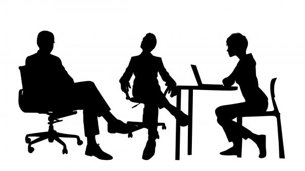 Free Stock Photo of Business Meeting Silhouette