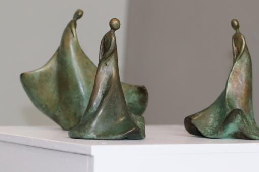 Free Stock Photo of Modern small bronze sculptures