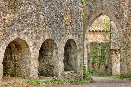 Free Stock Photo of Gwrych Castle Arches