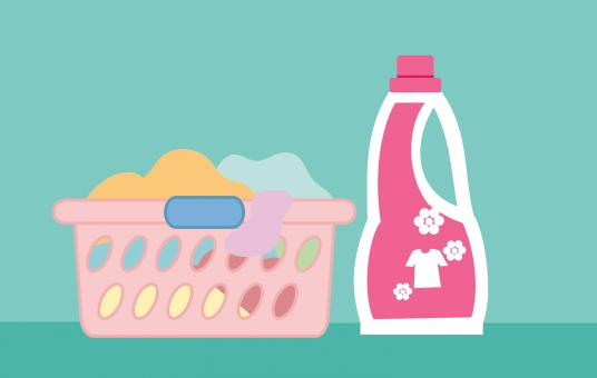Free Stock Photo of Laundry Detergent Illustration