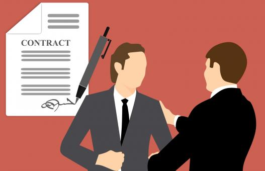 Free Stock Photo of Business Contract Illustration