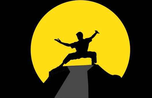 Free Stock Photo of Kung Fu Master Illustration