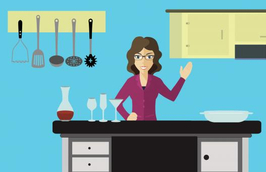 Free Stock Photo of Illustration of Woman in Kitchen
