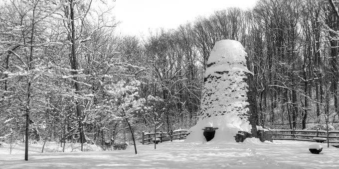 Free Stock Photo of Winter Panorama Ruins - Susquehanna Windmill